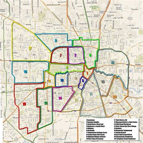 houston map by wards the world s catalog of ideas