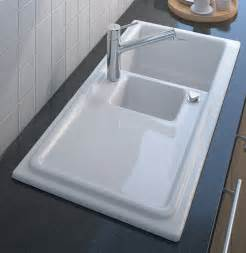 kitchen ceramic sinks built in ceramic kitchen sink by duravit new cassia