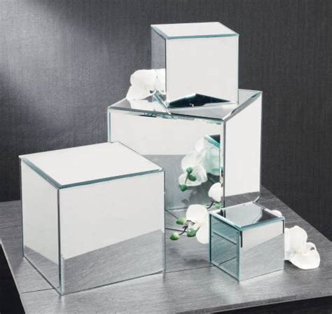 Mirror Pedestal Risers Set Of 4 Mirror Cubes Mirror Glass Mirrors For Centerpieces