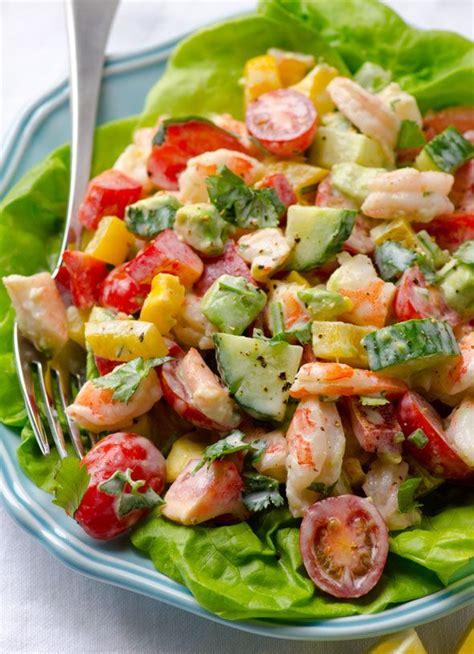 salad recipes shrimp avocado tomato salad with greek yogurt dressing