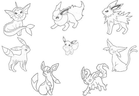 Eeveelutions Coloring Pages Coloring Pages Eevee Evolutions Coloring Pages