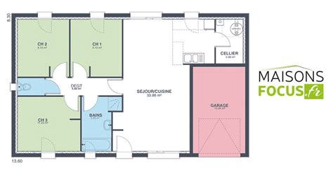 Simple House With Floor Plan by Plan Maison Focus 80m2