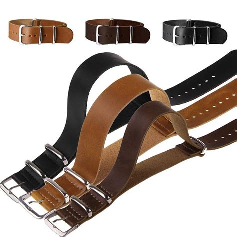 Tali Jam Kulit Liather 22mm buyincoins 18 mm 20 mm 22 mm jam tangan kulit band tali