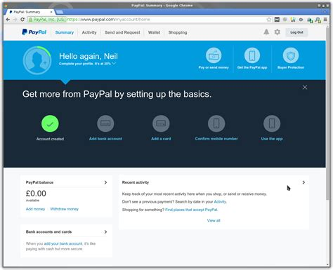 paypal home page creating a paypal account vntweb