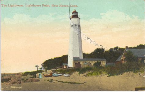 Five Mile Point Light by Five Mile Point Light Postcards New Lighthouses