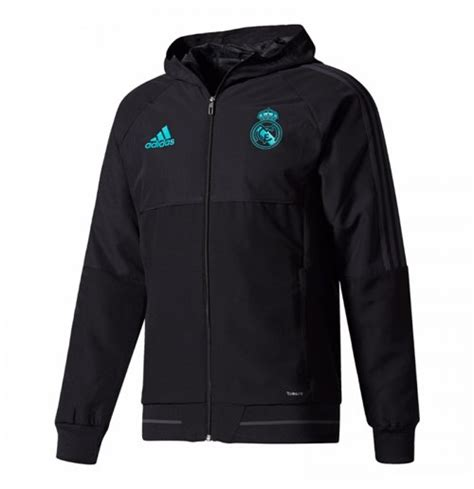 Parka Bola Real Madrid Army 2017 2018 real madrid adidas presentation jacket black for only c 109 55 at