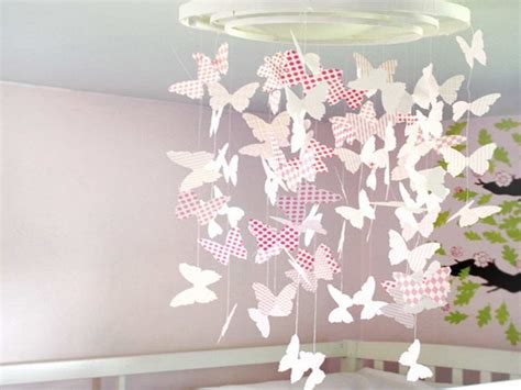 How To Make Paper Decorations For Your Room - bloombety diy nursery decor with paper butterflies diy