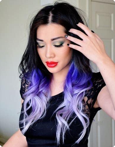 trend alert black  purple hair