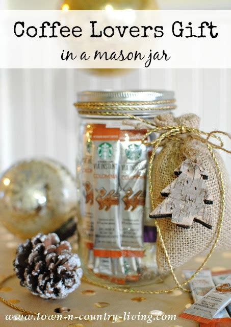 coffee lovers gift in a mason jar town country living