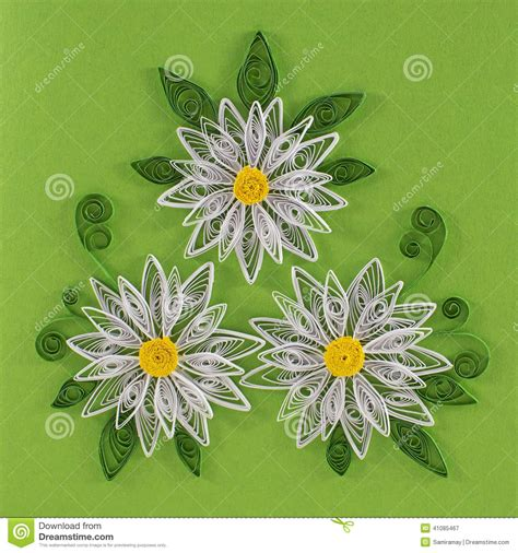 Quilling Vase Quilling Flowers Stock Illustration Image 41085467