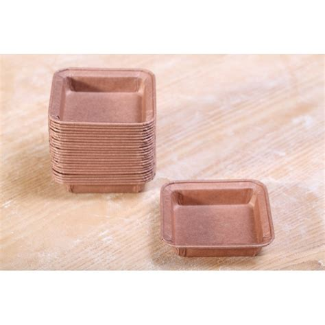 Paper Molds - paper pie molds square 7 cm weekend bakery