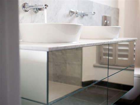 floating mirrored sink unit bath bespoke