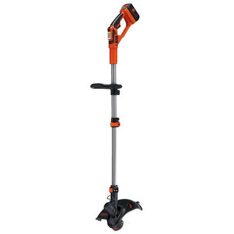 black decker 13 in 40 volt max lithium ion cordless 2 in 1 string grass trimmer lawn edger with