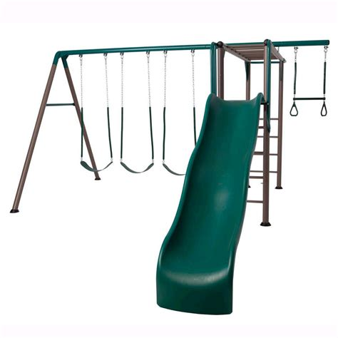 metal swing sets with monkey bars shop lifetime products monkey bar adventure residential