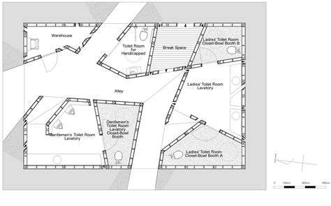 public toilet design plans in populated area gallery of house of toilet daigo ishii future scape
