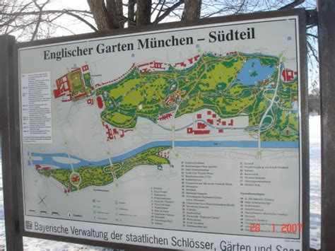 Englischer Garten Maps by Mapa Do Jardim Ingl 234 S Englischer Garten Picture Of