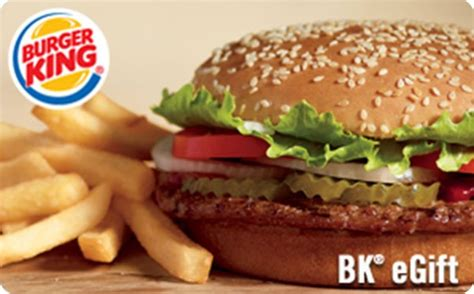 Bk Gift Card - burger king gift card