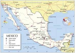 political map of mexico nations project