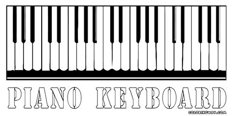 piano color piano coloring pages coloring pages to and print