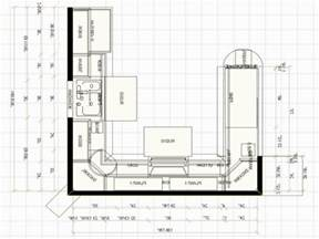 Kitchen Floor Plans Islands U Shaped Kitchen Floor Plans