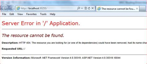 page not found galorath inc mvc routing errors troubleshooting of mvc routing