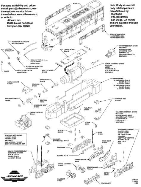 athearn parts diagrams athearn genesis problems fixed tony s exchange