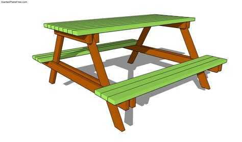 picnic bench plans free picnic table plans free