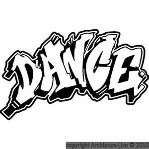 graffiti sticker wall dance ambiance personalised brick amp name decal graphic
