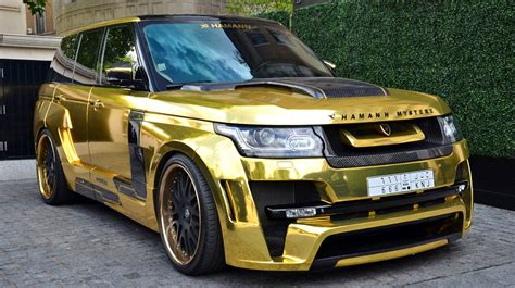 range rover gold gold range rover hamann mystere the luxury