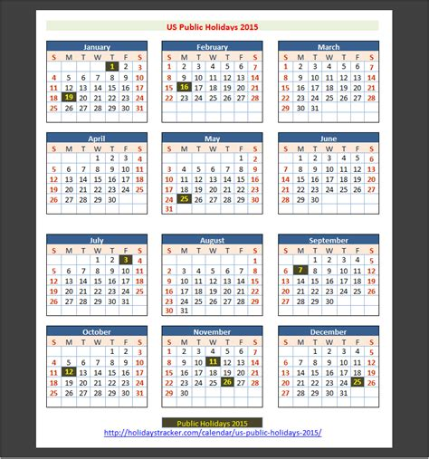 Calendar With Holidays 2015 2015 Calendar With Holidays Png New Calendar Template Site