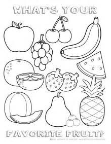 Galerry fruits coloring pages for kindergarten