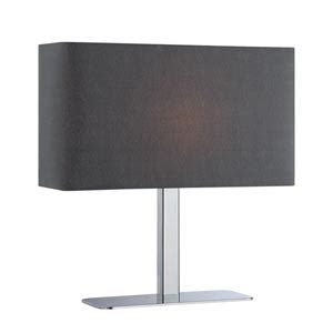 Lite Source Levon Black Shade by Levon Polished Chrome Table L With White Shade Lite