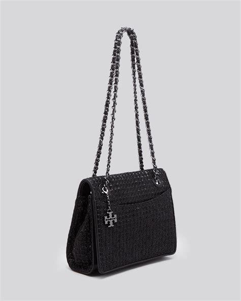 Burch Fleming Medium Quiled burch shoulder bag fleming metallic quilted medium flap in black lyst
