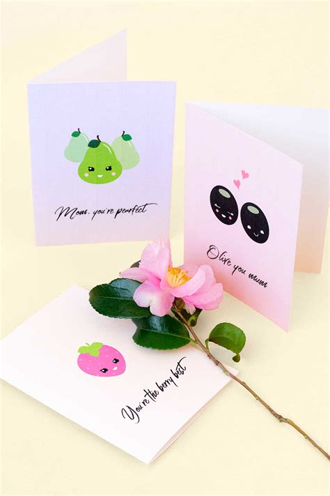 printable christmas cards for mothers printable pun mother s day cards make and tell