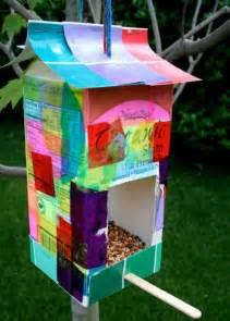 recycled bird feeder fun family crafts