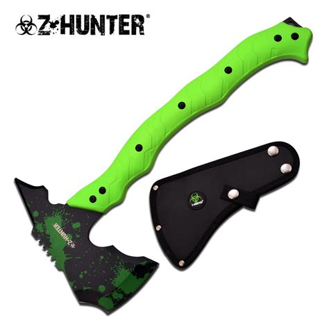 combat hatchets z green hacker tang tactical axe