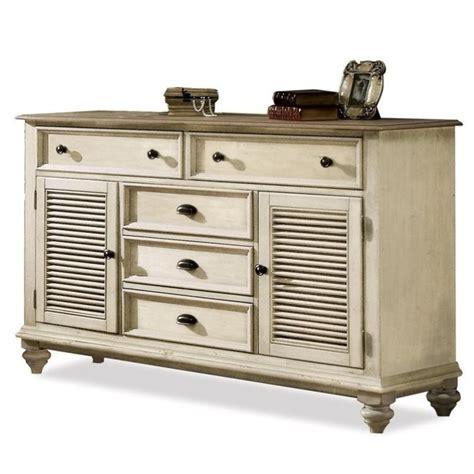 White Shutter Bedroom Furniture by Riverside Furniture Coventry Shutter Door Dresser In Dover
