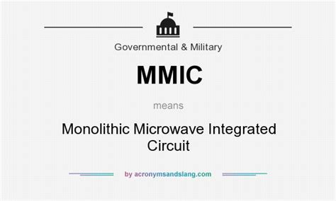 what is monolithic microwave integrated circuits mmic monolithic microwave integrated circuit in computing it by acronymsandslang