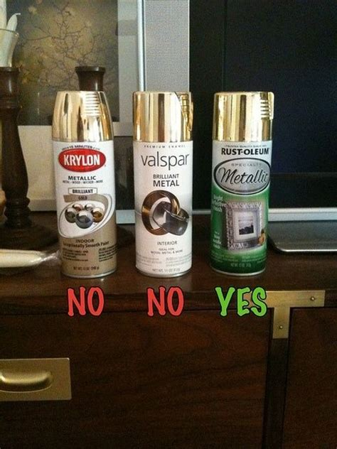 metallic spray paint diy projects