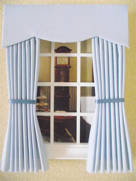 dolls house curtains miniature dolls house 12th scale curtains 10 colours 4 in wide x 7 1 2 in long ebay