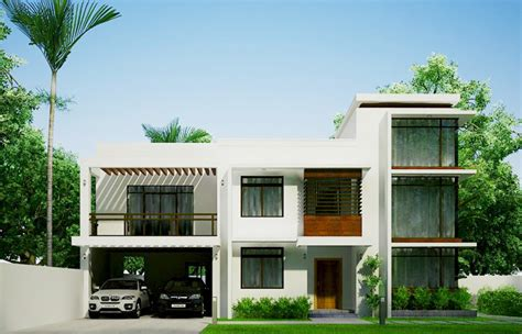 house perspective design two storey modern residential building