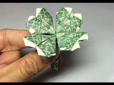 Money Origami Shamrock - dollar origami clover preview 4 leaf clover shamrock