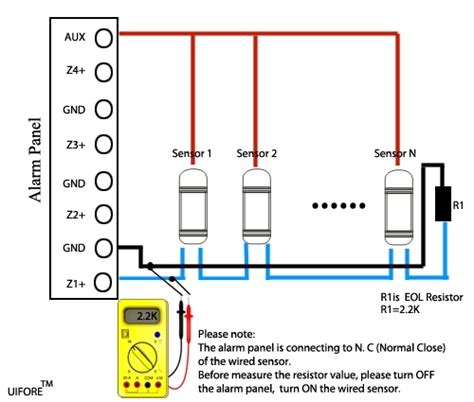 motion sensor alarm wiring diagram 34 wiring diagram