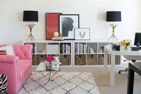 pink and black home decor office decorating ideas from ruby press popsugar home