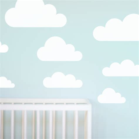 wall stickers clouds cloud wall stickers for nursery