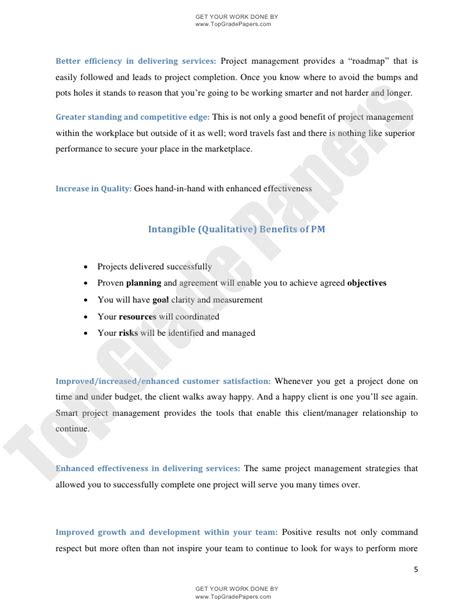 Essay On Project by Essay On Project Management