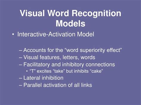 attention pattern recognition word superiority effect ppt what is language acquisition powerpoint