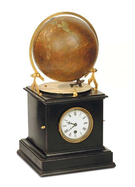 orologi da tavolo francesi orologio da tavolo in legno ebanizzato con globo terrestre