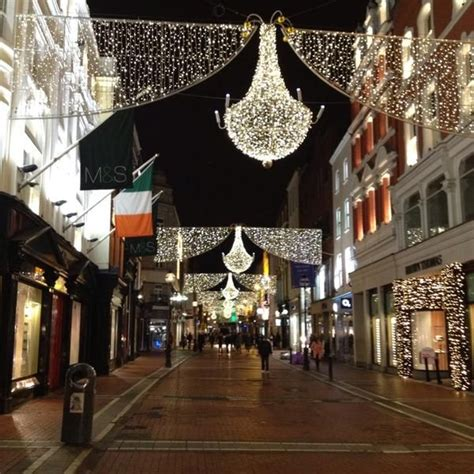 christmas lights on grafton street dublin thanks for