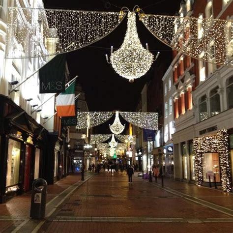 christmas lights on grafton street dublin thanks for